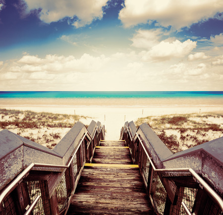 destin: Destin beach in florida ar Henderson State Park USA Stock Photo