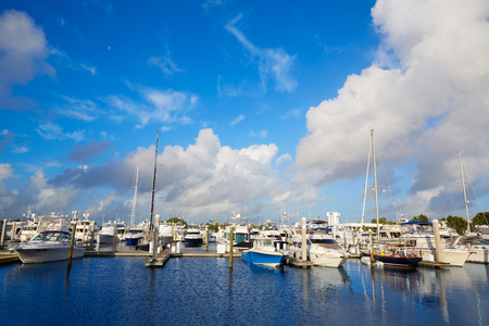 Fort Lauderdale jachthaven boten in Florida USA Stockfoto