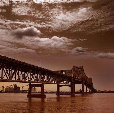 horace: Louisiana Baton Rouge Horace Wilkinson Bridge Interstate i10 over Mississippi river USA Stock Photo