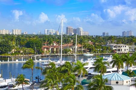 fort lauderdale: Fort Lauderdale Stranahan river at A1A in Florida USA Stock Photo