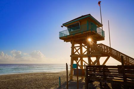 baywatch: Daytona Beach in Florida baywatch tower in USA