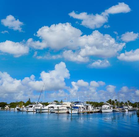 key of paradise: Key West Florida marina in Garrison Bight of Florida USA Stock Photo