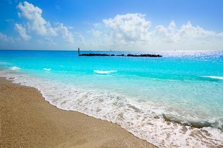 key west: Key West beach Fort Zachary Taylor Park in Florida USA Stock Photo