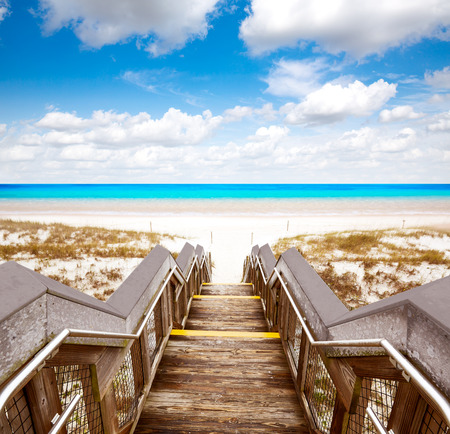 Destin beach in florida ar Henderson State Park USA 版權商用圖片