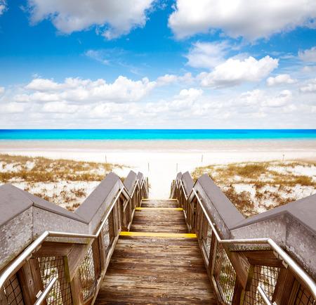 Destin strand in Florida ar Henderson State Park USA Stockfoto