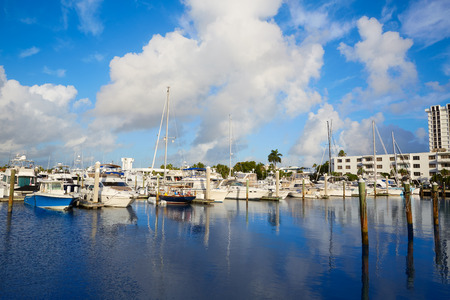 fort lauderdale: Fort Lauderdale marina boats in Florida USA