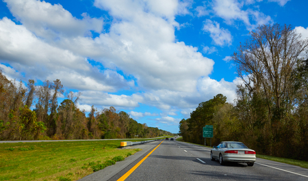 interstate: I-10 interstate highway in Florida USA with traffic cars US