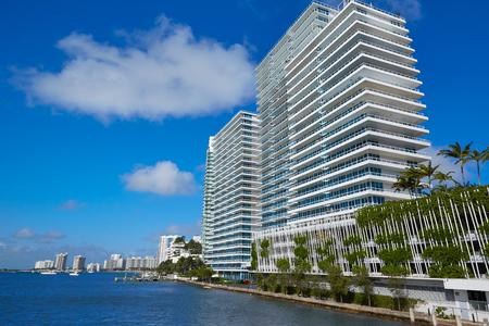 causeway: Miami Beach from MacArthur Causeway in Florida USA Stock Photo