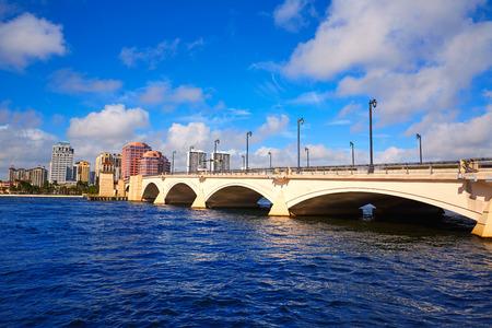 the royal park: Palm Beach skyline royal Park bridge in Florida USA