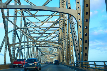 horace: Horace Wilkinson Bridge in Mississippi river at Baton Rouge of Louisiana USA