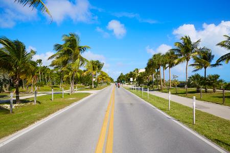 Key West Florida strand Bodemvrijheid S Higgs gedenkteken in USA Stockfoto