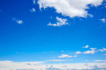 blue summer sky: Blue sky with white clouds in a sunny summer day