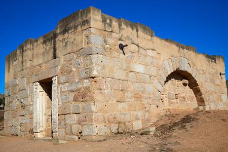 Merida Alcazaba in Spain Badajoz Extremadura by via de la Plata way Stock Photo