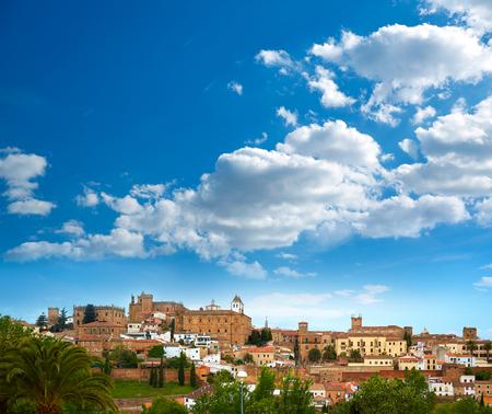 Caceres skyline in Extremadura of Spain by Via de la Plata way Фото со стока