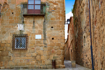 Caceres monumental city in Extremadura of spain Stock Photo