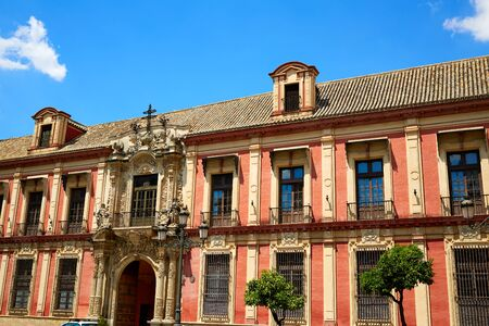 exterior shape: Seville Palacio Arzobispal of Sevilla Andalusia Spain