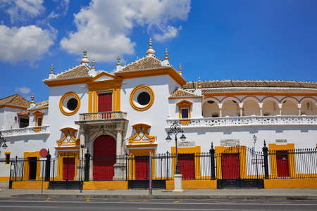 plaza de toros: Seville Real Maestranza bullring plaza toros de Sevilla in andalusia Spain