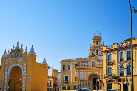la: Seville Puerta de la Macarena and Basilica church in Sevilla Andalusia Spain