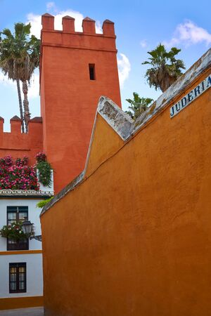 jewish houses: Seville Juderia barrio in Andalusia Sevilla of Spain