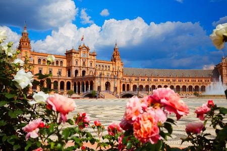 セビリア セビリア アンダルシア スペイン広場のスペイン広場