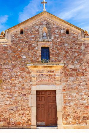 way of st james: Torremejia church near Merida in Extremadura Spain by via de la Plata way