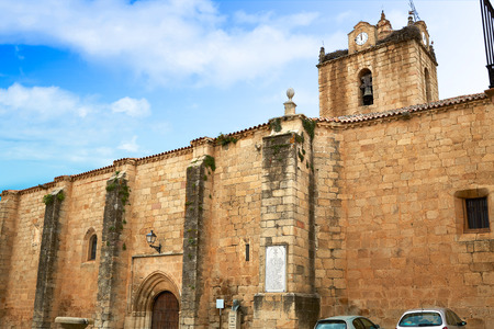 pilgrim journey: Santa Marina church in Canaveral of Caceres Spain by the Via de la Plata way