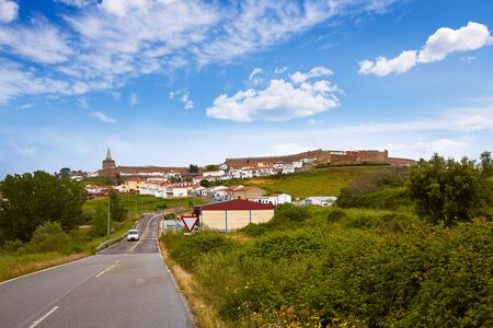 pilgrim journey: Galisteo village in Caceres of Extremadura Spain by the Via de la Plata way