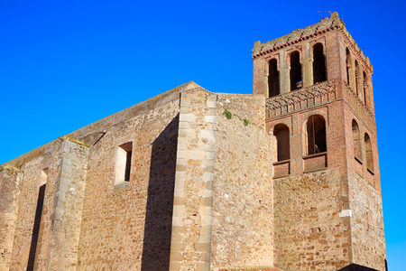 way of st james: Puebla de Sancho Perez church in Extremadura of Spain by via de la Plata