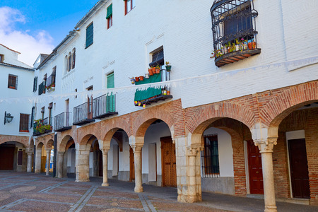 chica: Zafra Plaza Chica in Spain Extremadura by the Via de la Plata way
