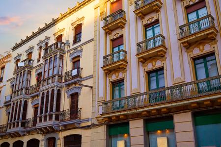 exterior shape: Zamora Santa clara street facades in Spain modernism
