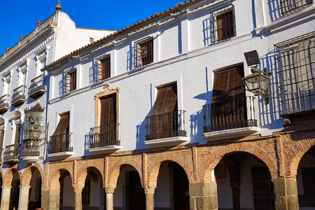 pilgrim journey: Zafra Plaza Grande in Spain Extremadura by the Via de la Plata way