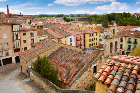 angle view: Zamora high angle view roofs in Spain