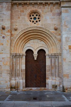 via: Zamora church of Santiago del Burgo in Spain by Via de la Plata Santiago way Stock Photo