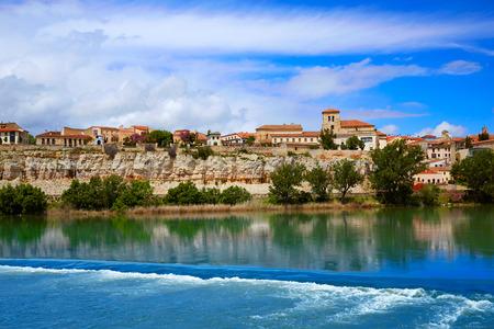 la: Zamora skyline by Duero river of Spain on the Via de la Plata way to Santiago