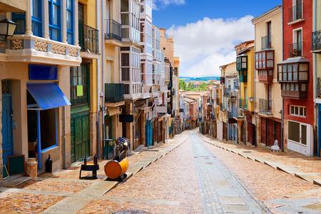 Zamora street Balboraz in Spain by the via de la Plata way to Santiago Фото со стока