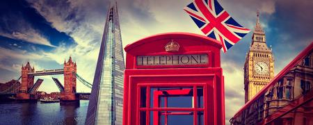 shard: London photomount with telephone box and Icon landmarks