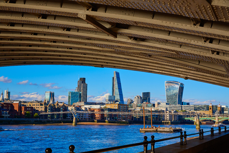 London skyline from Blackfriars new bridge in UK
