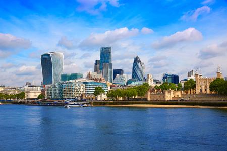 London financial district skyline Square Mile England UK