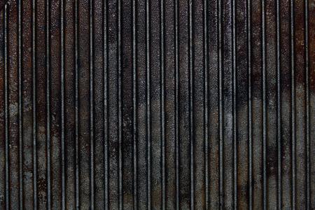 鋳鉄製グリル黒鋼テクスチャ ライン パターン 写真素材
