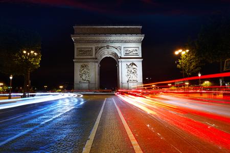 Arc de Triomphe in Paris Arch of Triumph sunset at France Stock fotó