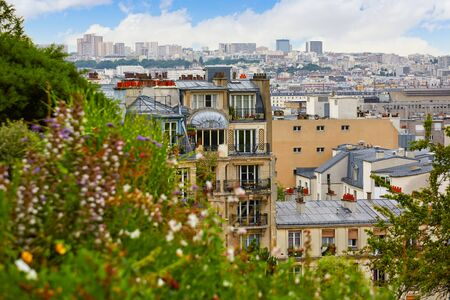 parisian: Paris skyline aerial from Montmartre in France