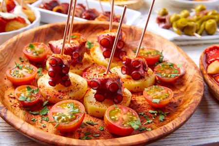 Galicische Octopus a la Gallega tapas pinchos recept uit Spanje met aardappelen
