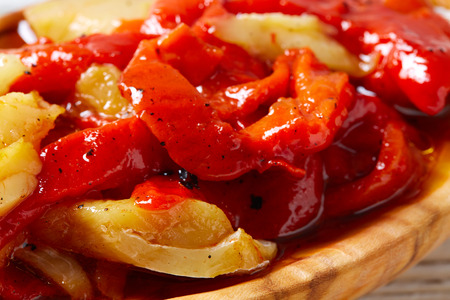red pepper and cod fish esgarraet tapas from Spain