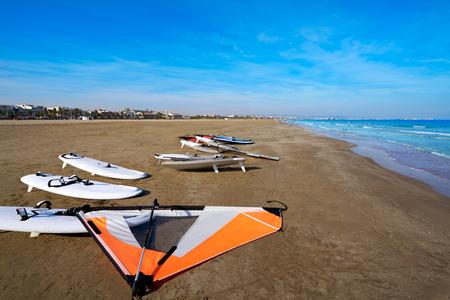 paradise bay: Valencia La Malvarrosa beach arenas in Spain