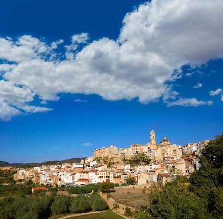 Chelva village skyline in Valencia of Spain Serranos area