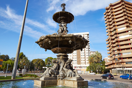 Alameda fountain in albereda at Valencia of Spain