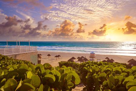 yucatan: Cancun Delfines Beach at Hotel Zone of Mexico