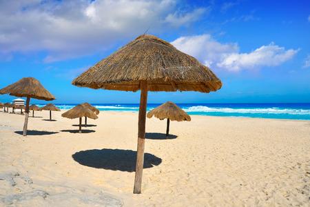 Cancun Delfines Beach at  Mexico Stock Photo