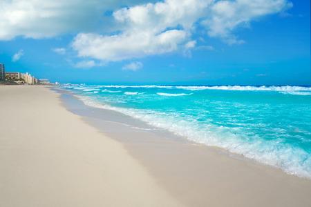 Cancun Delfines Beach at Hotel Zone of Mexico