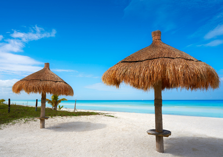 Holbox tropical Island sunroof beach in Quintana Roo of Mexico